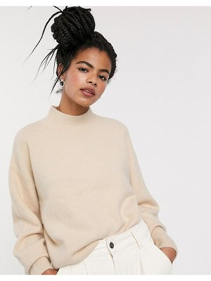 Other Stories &  compact yarn drop shoulder sweater in cream