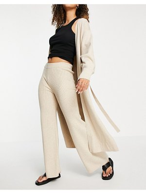 Other Stories &  cotton knit pants in beige