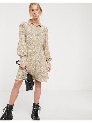 Other Stories &  dot print shirt dress in beige