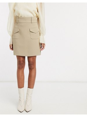 Other Stories &  double pocket structured mini skirt in beige