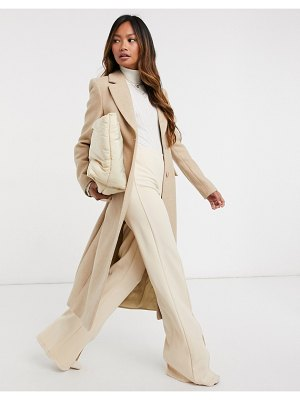 Other Stories &  herringbone hourglass coat in beige