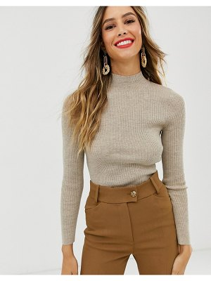 Other Stories &  high neck knitted sweater in beige