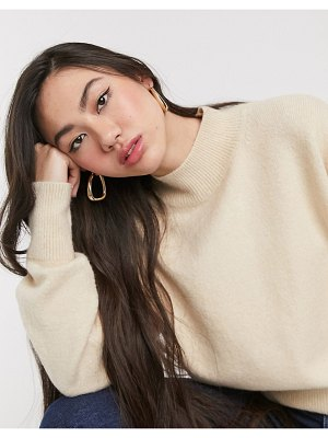 Other Stories &  high neck sweater in beige-neutral