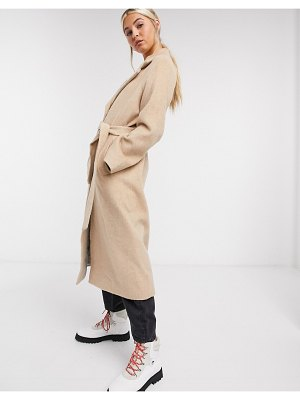 Other Stories &  long belted coat in camel-beige