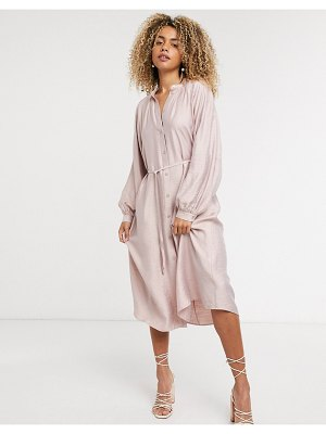 Other Stories &  midi dress in dusty pink
