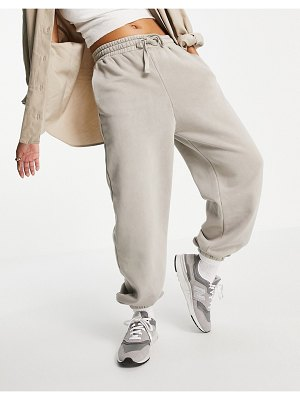 Other Stories &  organic blend cotton sweatpants in light taupe-neutral