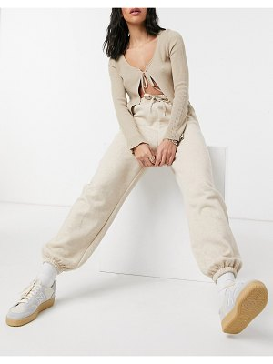 Other Stories &  organic cotton set sweatpants in beige-neutral