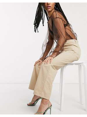 Other Stories &  organic cotton straight leg pants in beige