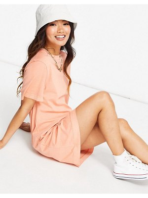 Other Stories &  organic cotton t-shirt mini dress in peach-pink