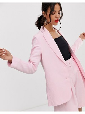 Other Stories &  oversized linen blend blazer two-piece in pink