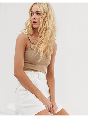 Other Stories &  strap detail tank top in beige