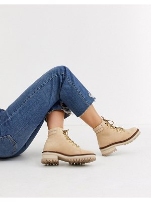 Other Stories &  suede lace-up hiker boots in beige