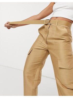 Other Stories &  utility pocket pants in beige
