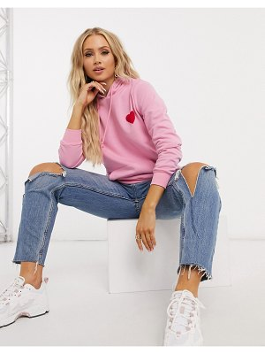 Outrageous Fortune loungewear motif slogan hoodie in pink