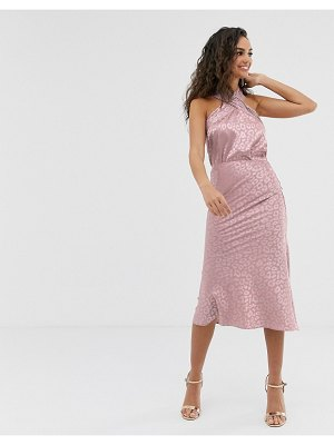 Outrageous Fortune midi slip skirt in pink texture