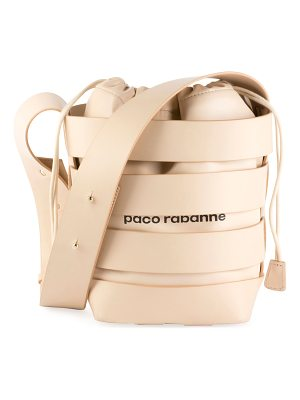 PACO RABANNE Cage Leather Small Hobo Bag