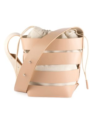 PACO RABANNE Cage Small Mixed Hobo Bag