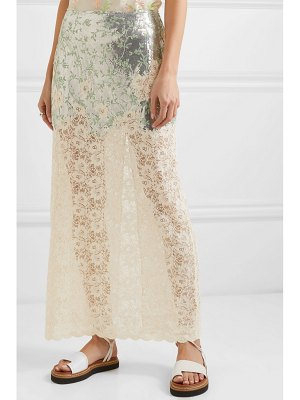 Paco Rabanne chainmail and lace skirt