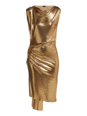 Paco Rabanne Draped metal mesh dress