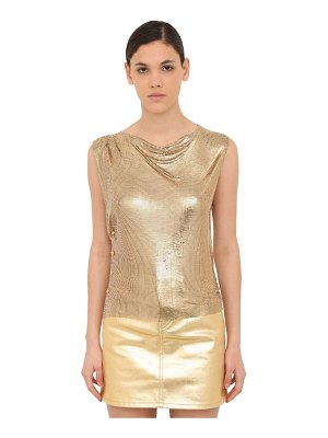 Paco Rabanne Sleeveless mini mesh top