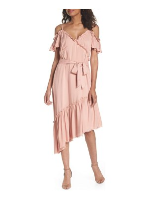 PAIGE aylin cold shoulder ruffle dress