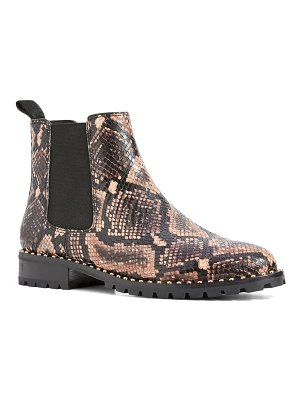 PAIGE cecily stud trim chelsea boot