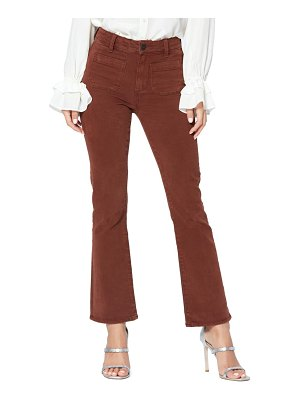 PAIGE claudine high waist patch pocket stretch cotton pants