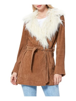 PAIGE faux shearling & genuine suede jacket