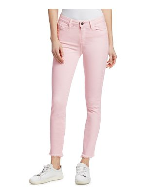 PAIGE hoxton high-rise straight ankle fray jeans