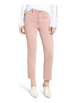 PAIGE hoxton high waist straight ankle raw hem jeans