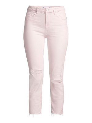 Paige Jeans hoxton high-rise cropped & ripped slim jeans