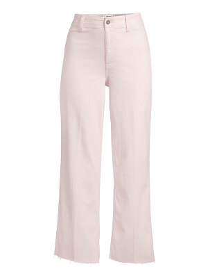 Paige Jeans nellie high-waist raw hem jean culottes
