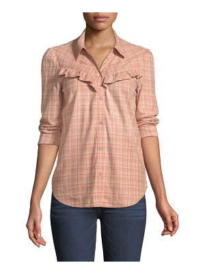 PAIGE Kamie Long-Sleeve Plaid Button-Down Shirt