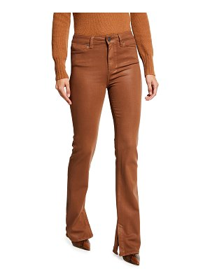 PAIGE Manhattan High-Rise Coated Boot-Cut Jeans