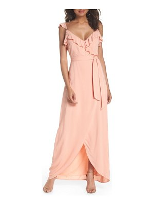 PAIGE regina ruffle maxi dress