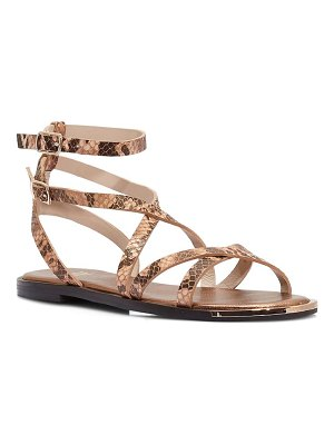 PAIGE thea snakeskin embossed ankle strap sandal