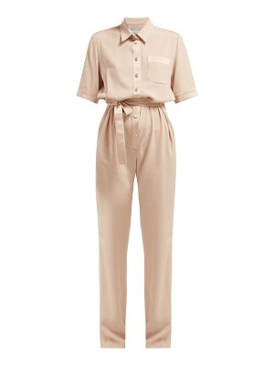 Pallas x Claire Thomson-Jonville Pallas X Claire Thomson-jonville - Emotion Crepe And Satin Jumpsuit