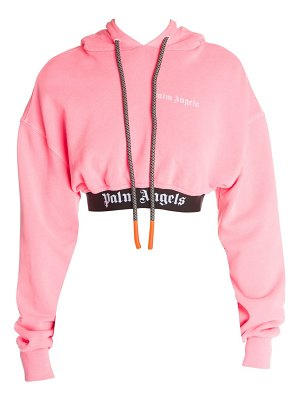 Palm Angels new basic cropped cotton hoodie