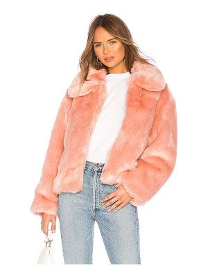 Pam & Gela Boxy Faux Fur Coat