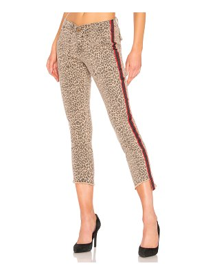 Pam & Gela uniform side stripe step hem pant