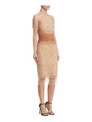 Pamella Roland ombré sequin bodycon dress