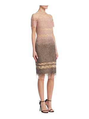 Pamella Roland signature sequin sheath dress