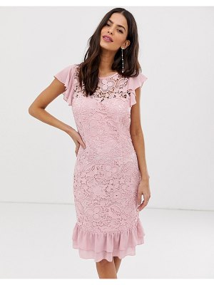 Paper Dolls lace peplem midi dress