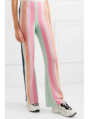 PAPER LONDON striped wool flared pants