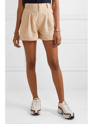Paradised jamie checked cotton-voile shorts