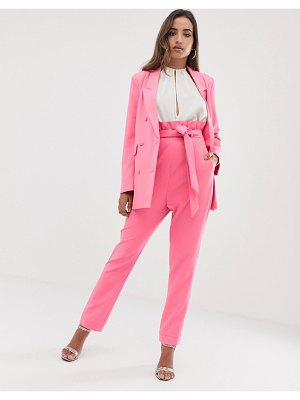 Parallel Lines paperbag waist pants two-piece-pink