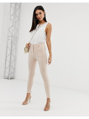 Parallel Lines skinny structured pants