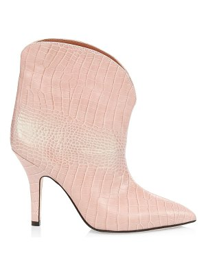 Paris Texas iridescent croc-embossed leather ankle boots