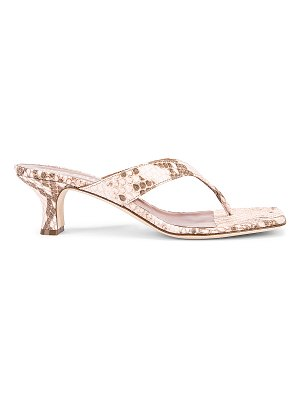 Paris Texas faded python print 45 thong sandal