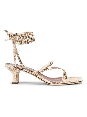 Paris Texas faded python print wrap sandal